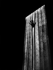 Doorway and a paper hand (Shahrear94) Tags: blackandwhite black cellphone xiaomi concept conceptual contrast shadow light door hands bnw flicker trending dhaka bangladesh night paper blackwhite unlimited fate meaning tear reality picture photo