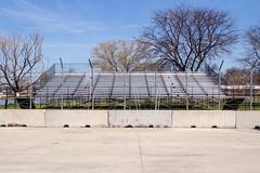 _4267370 (elsuperbob) Tags: detroit michigan belleisle concrete detroitgrandprix setup bleachers newtopographics emptyspaces fence barricade