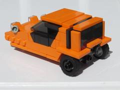 Bond Bug (Lego guy 2) Tags: lego bond bug 3 wheeler reliant robin regal