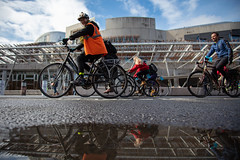 #POP2018  (134 of 230) (Philip Gillespie) Tags: pedal parliament pop pop18 pop2018 scotland edinburgh rally demonstration protest safer cycling canon 5dsr men women man woman kids children boys girls cycles bikes trikes fun feet hands heads swimming water wet urban colour red green yellow blue purple sun sky park clouds rain sunny high visibility wheels spokes police happy waving smiling road street helmets safety splash dogs people crowd group nature outdoors outside banners pool pond lake grass trees talking bike building sport