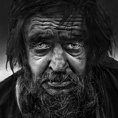 Noir (Ales Dusa) Tags: man portrait streetportrait face monochrome blackandwhite alesdusa bw outdoor human people humanity homeless closeup closeupportrait oldwrinkledman wrinkles beard fullframe person canoneos5dmarkii ef50mmf18stm strongcontrast