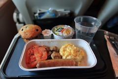 Inflight Meal - British Airways (A Sutanto) Tags: premium economy class breakfasy british airways eggs sausage world traveler plus traveller ba