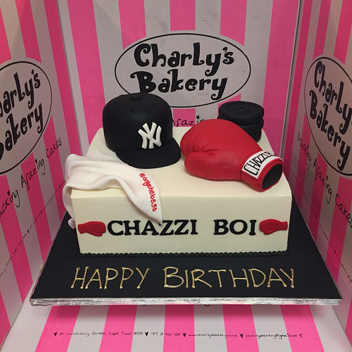 Amazing Rectangular Cake With 3D Ny Cap 3D Boxing Glove 3D Weights Funny Birthday Cards Online Alyptdamsfinfo