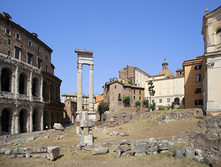 Teatro di Marcello started by Julius Caesar in 27 BC