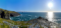 Cornwall beauty (Gwenael B) Tags: panoramic panorama coast sea waves sun blue sky rocks cliffs nature beauty nikond5200 tamron16300mm composite landscape seaside england uk cornwall