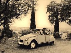 deudeuche (danie _m_) Tags: car naturepic sepia nature voiture rétro citroën 2ch
