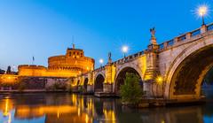 Ponte Sant'Angelo e Castel Sant'Angelo (Steve_Mc_Schli) Tags: rom roma engelsbrücke engelsburg