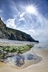 Passing stranger (pauldunn52) Tags: wick beach cwm nash sand laver purple seaweed sun cliffs glamorgan heritage coast wales