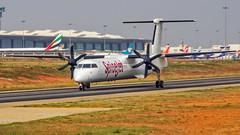 SpiceJet Bombardier Q400 VT-SUR Bangalore (BLR/VOBL) (Aiel) Tags: spicejet bombardier q400 vtsur bangalore bengaluru canon60d canon24105f4lis