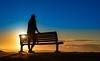 Sunrise 15th May 2018 (Michael.Sutton) Tags: silhouette sunrise sunset dawn dusk blue orange seat standing cronulla beach sydney australia