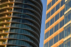 High Rise Apartments & Offices (dr_marvel) Tags: tx texas houston offices businesses rental glass railing balconies evening sunset