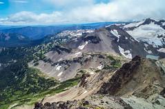 Meade Glacier and SW view from Tieton Peak. (Ken Zaremba) Tags: cascademountains geography goatrockswilderness northamerica outdooractivities outdoorsports snoqualmienationalforest surpriselake unitedstates upperrivercamp washington washingtonstate backpacking camping hiking yakima geo:state=washington geo:lon=12139463425 geo:country=unitedstates geo:location=unnamedroad geo:lat=46511654916667 geo:city=yakima