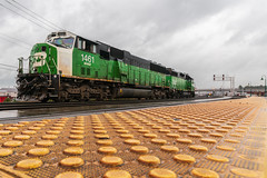 Green Machines (sullivan1985) Tags: bnsf1461 bnsf2322 burlingtonnorthern cascadegreen frisco stlouis–sanfranciscorailway vancouver wa washington pnw sd60m gp382 emd electromotive engines locomotives train railroad railway big nuts