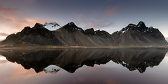 Calm (Des Daly) Tags: refection mountain lagoon iceland water sunset clear calm cloud landscape