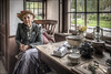 Black Country Housewife (Darwinsgift) Tags: black country living museum portrait lady housewife cottage interior voigtlander 28mm color shopar slii f28