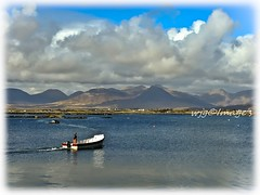 Roundstone, Co. Galway. (willieguildea) Tags: roundstone galway ireland eire mountains sky clouds water waterscape sea ocean nikon boat fisherman seascape coast coastal coastalireland shore shoreline landscape scenic bay
