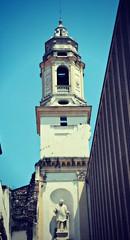 biblioteca civica (me, paolo and the seven wonders + two&little3) Tags: verona campanile statua