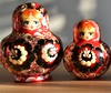Matryoshka Pear Shape (vanessa_morawski) Tags: matryoshka nestingdoll stackingdoll wood russian doll colourful red many toy