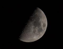 MoonShot (Akshat Tewari) Tags: moonshot moon blackandwhite black space night sky halfmoon sphere solitude nature canon eos600d 55250mm craters