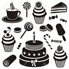 FGL0121 VINIL PANADERIA (Galeria Zullian & Trompiz) Tags: basket birthday cake candy cherries child chocolate cookie cookies cup desserts donut drinks flapjacks food foods freeze fruit gum heladeria holiday honey hotchocolate ice icon icons jam lollipop picnic pictogram sign sugar sweet sweets symbol vector cinnamon black white