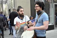drum (greenelent) Tags: notrump protest demonstration riseandresist streets people activists nyc newyork