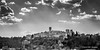 Colle di Val d'Elsa (Ignacio Ferre) Tags: italy italia toscana tuscany village pueblo panorama paisaje landscape blancoynegro blackwhite bw nikon monocromo monocromático monochrome colledivaldelsa cielo sky nube cloud light luz