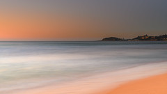 Soft Dawn Seascape and Headland (Merrillie) Tags: daybreak wamberalbeach sand sunrise soft nature australia terrigal surf longexposure wamberal centralcoast newsouthwales waves earlymorning nsw morning beach ocean sea sky landscape coastal seascape outdoors waterscape dawn coast water seaside