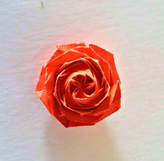 May the flowers remind us why the rain was so necessary (Meeyho) Tags: origami origamiflower origamirose folding paperfolding origamipaper naomikisato