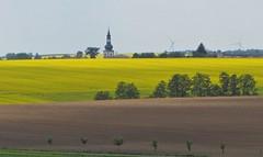 Rapskirche (kadege59) Tags: thüringen thuringia deutschland nature canonpowershotsx230hs germany mai raps rape rural grabfeld sky clouds yellow