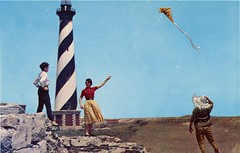 Cape Hatteras Lighthouse, North Carolina (SwellMap) Tags: postcard vintage retro pc chrome 50s 60s sixties fifties roadside nostalgia americana advertising