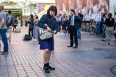 Circles And Stars (burnt dirt) Tags: asian japan tokyo shibuya station streetphotography documentary candid portrait fujifilm xt1 laugh smile cute sexy latina young girl woman japanese korean thai dress skirt shorts jeans jacket leather pants boots heels stilettos bra stockings tights yogapants leggings couple lovers friends longhair shorthair ponytail cellphone glasses sunglasses blonde brunette redhead tattoo model train bus busstation metro city town downtown sidewalk pretty beautiful selfie fashion pregnant sweater people person costume cosplay polkadot star red blue denim