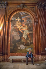 Literature as an Art (writing with light 2422 (Not Pro)) Tags: stephenaschwarzmanbuilding 5thavebranch publclibrary marble painting moulding happybenchmonday hbm vertical indoor nationalhistoriclandmark richborder