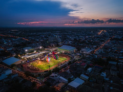 International Balloon Festival in Thailand (kiatthaworn khorthawornwong) Tags: thailand balloon night festival travel drone aerial sunset beautiful dji color colorful glow flow gas light daytonight stadium city cityscape town nightscape flickrtravelaward