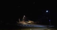 dead end (LubosK) Tags: black winter dark snow light street cold wal lamp road night home house