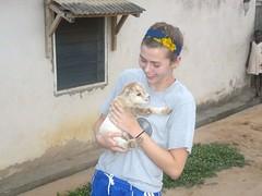 47a6da22b3127cce98549bef03f000000030108AcNmbZu3csx (partnerschoolsworldwide) Tags: africa ghana baby goat village lifestyle holding animal