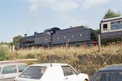 S&DJR 7F 2-8-0 at Watchet Station, 25 Aug 1993 (Ian D Nolan) Tags: railway wsr station watchetstation film 35mm epsonperfectionv750scanner 280z lms 8f 48773