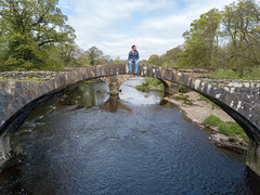 Cromwell's Bridge (scrappy nw) Tags: cromwellsbridge bridge cromwell preston lancashire river hodderriver brandywinebridge olivercromwell jrrtolkien lordoftherings shire clitheroe hurstgreen drone dji mavicpro mavic scrappynw scrappy