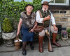 After the shoot (Mister Oy) Tags: haworth 1940s shooting couple pipe shotgun leatherboots sitting nikond850 nikon2470mmf28evr wartime reinactment