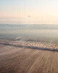 Sea Trails #1 (Euan Ross (circa35mm)) Tags: scotland visitscotland portobello portobellobeach longexposure landscape seascape sunrise minimalism minimal sea water waves tide edinburgh