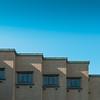 Triangles, repetitive stuff. (Erik Schepers) Tags: composition symmetry museum gallery minimal minimalism blue city texture thehague netherlands architecture architect sun shadow lightplay lightspel triangle travel wanderlust