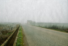 Casa abandonada (Testigo Indirecto) Tags: emptyspace espaciovacio fog foggy winter cold white isolated perspective perspectiva