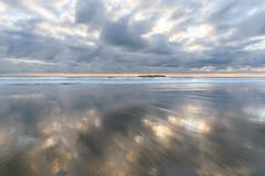 Reflection (pbandy) Tags: beach beverlybeach landscape ocean sunset spring oregon nature reflection