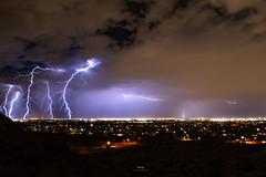 Monsoon In Phoenix, Arizona (Pritha Photography) Tags: monsoon phoenix arizona weather lightening storm thinderstorm power electricity nature landscape nightsky nightphotography nightscape night longexposure sky