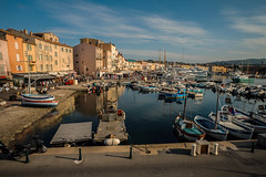 Saint Tropez harbour.... (Dafydd Penguin) Tags: harbour harbor harbourside quay quayside water sea waterside boats yachts yachting town urban village moorings sun evening light saint tropez cote dazur southern france mediterranean leica m10 elmarit 21mm f28