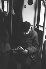 Warsaw, 2018 (Aleksander Kalka Photographiti) Tags: warsaw warszawa nikon f100 nikkor 50mm tram session tramwaj pan gazeta black white czarno bialy biały schwarz weiss blackwhite comunication analog warschau varsavia rollei superpan 200