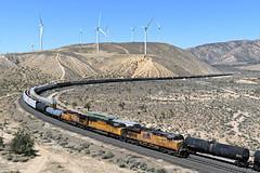 UP QRVWCB-27 (caltrain927) Tags: union pacific railroad mixed freight manifest ge es44ac ac45ccte c45accte c45ah ac gevo emd sd70m warren california ca tehachapi mojave