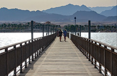 walking down the jetty (werner boehm *) Tags: wernerboehm jetty sinai egypt landscape