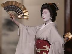 Fan Dancing (Rekishi no Tabi) Tags: geiko geisha geigi odori kimono gion gionkobu japan kyoto