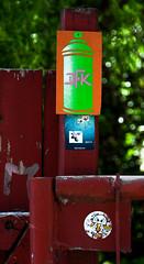 HH-Installations 2029 (cmdpirx) Tags: hamburg germany reclaim your city urban street art streetart artist kuenstler graffiti aerosol spray can paint piece painting drawing colour color farbe spraydose dose marker stift kreide chalk stencil schablone wall wand nikon d7100 installation install cement glue kleber klebstoff tile kachel styrodur styropor vinyl lp cd style guerilla knitting yawn bombing tape inst cutout yarn