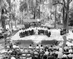 New Douglas High School group singing at the 1957 Florida Folk Festival - White Springs (State Library and Archives of Florida) Tags: florida whitesprings students vocalgroups highschoolstudents old marble stage oldmarblestage marblestage floridafolk floridafolkfestival